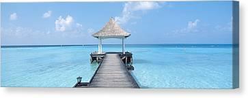 Beach & Pier The Maldives Canvas Print