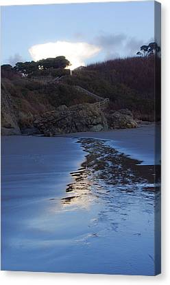 Canvas Print featuring the photograph Beach Access by Adria Trail