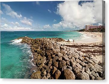 Atlantis Canvas Print - Beach At Atlantis Resort by Amy Cicconi