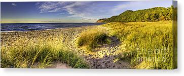 National Lakeshore Canvas Print - Beach At Esch Road by Twenty Two North Photography