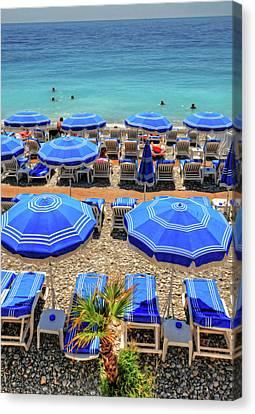 Beach At Nice France Canvas Print