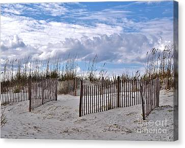 Canvas Print featuring the photograph Beach At Pawleys Island by Kathy Baccari
