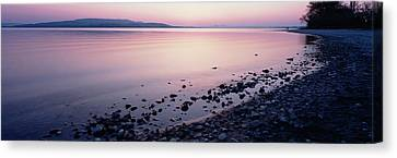 Beach At Sunset, Lake Constance, Germany Canvas Print by Panoramic Images