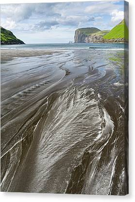 Beach At Tjornuvik Canvas Print