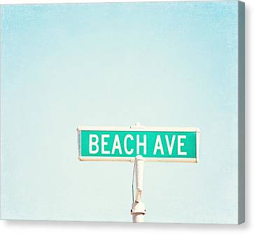 Street Lights Canvas Print - Beach Ave. by Carolyn Cochrane
