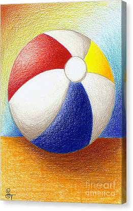 Beach Ball Canvas Print by Stephanie Troxell