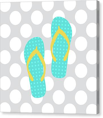 Beach Bathroom II Canvas Print