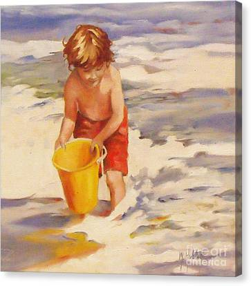 Beach Boy Canvas Print by Mary Hubley