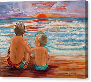 Beach Buddies II Canvas Print