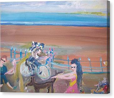 Beach Buddies Canvas Print by Judith Desrosiers
