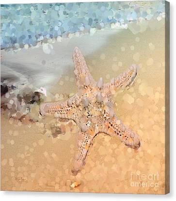 Sea Shell Digital Art Canvas Print - Beach Bum by Betty LaRue