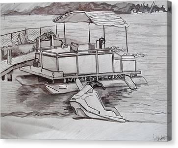 Sand Fences Canvas Print - Beach Bum by Carly Seyferth