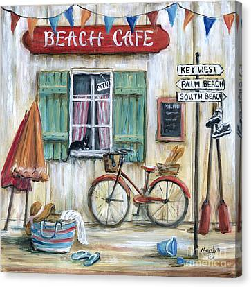 Beach Cafe Canvas Print by Marilyn Dunlap