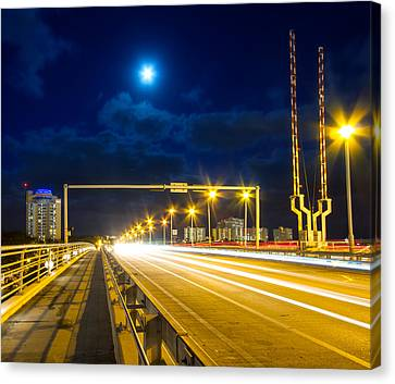 Beach Causeway Canvas Print by Mark Andrew Thomas