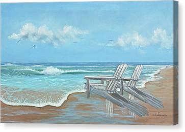 Beach Chairs II Canvas Print