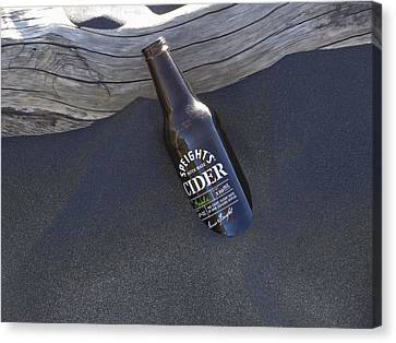 Beach Cider Canvas Print by David Yack