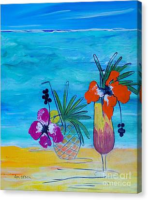Beach Cocktails Canvas Print by Lyn Olsen
