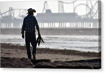Beach Cowboy Canvas Print