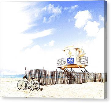 Canvas Print featuring the photograph Beach Cruiser by Margie Amberge