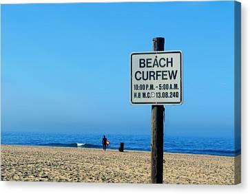Beach Curfew Canvas Print by Tammy Espino
