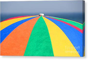 Canvas Print featuring the photograph Beach Day by Adrian LaRoque