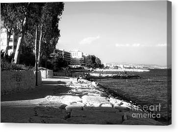 Beach Day At Limassol Canvas Print