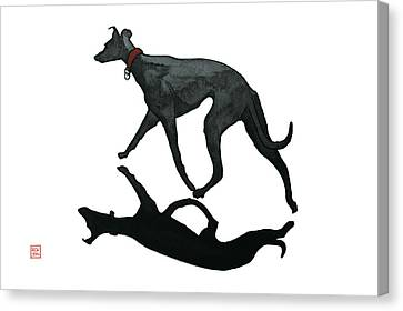 Beach Dog Two Canvas Print by Richard Williamson