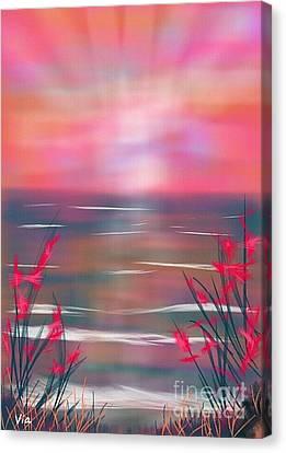 Beach Dreams Canvas Print by Judy Via-Wolff