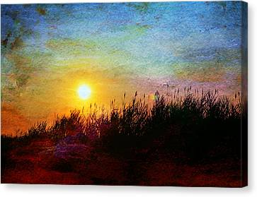 Beach Dune Sunset Canvas Print by Laura Fasulo