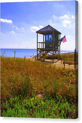 Canvas Print featuring the photograph Beach Duty by Artists With Autism Inc