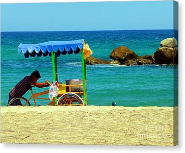 Beach Entrepreneur In San Jose Del Cabo Canvas Print