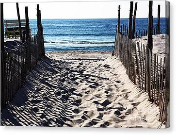 Beach Entry Canvas Print by John Rizzuto