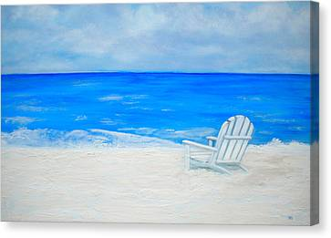 Beach Escape Canvas Print by Debi Starr