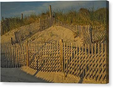 Beach Fence Canvas Print by Susan Candelario