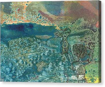 Canvas Print featuring the mixed media Beach Friends Flotsam And Jetsam by Catherine Redmayne