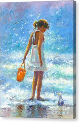 Beach Girl Canvas Print by Vickie Wade