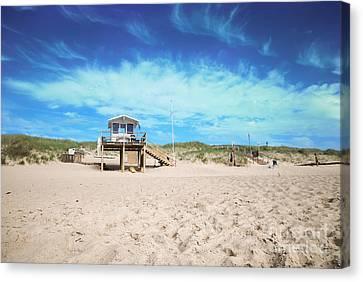 Beach Guard - Sylt Canvas Print by Hannes Cmarits
