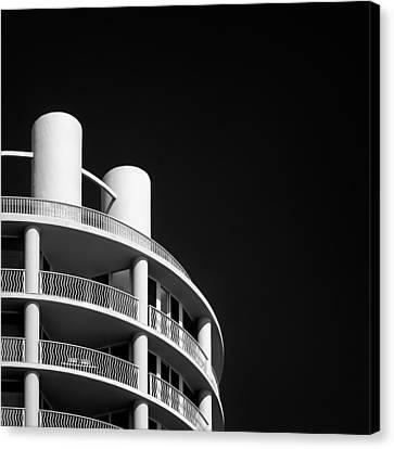 Miami Canvas Print - Beach Hotel by Dave Bowman