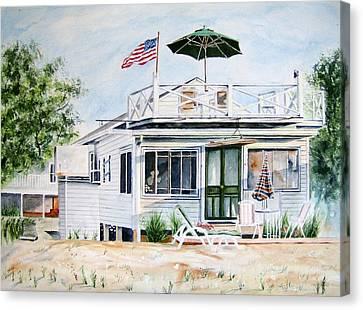 Beach House Canvas Print by Brian Degnon