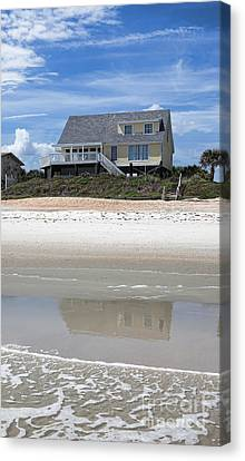 Beach House Canvas Print by Kay Pickens