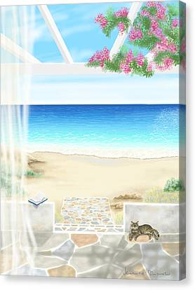 Print On Canvas Print - Beach House by Veronica Minozzi