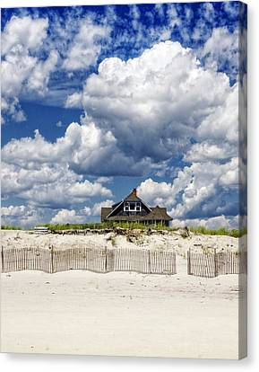 Beach House Canvas Print by Vicki Jauron