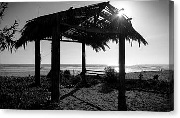 Beach Hut At San Onofre Canvas Print by Richard Cheski