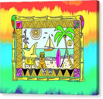 Tiki Canvas Print - Beach Hut Paradise by Aaron Bodtcher
