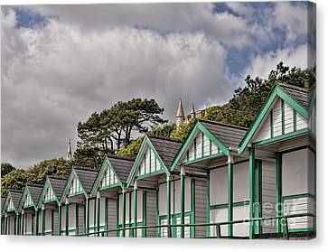 Beach Huts Langland Bay Swansea 3 Canvas Print by Steve Purnell