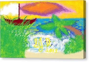 Beach Canvas Print by Joe Dillon
