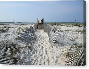 Canvas Print featuring the photograph Beach by Jon Emery