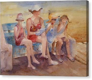 Seaside Heights Canvas Print - Beach Kids by Rose Sinatra