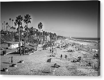 Beach Life From Yesteryear Canvas Print by John Wadleigh