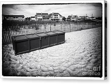 Beach Locker Canvas Print by John Rizzuto